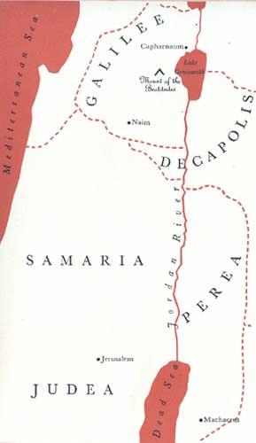 Map-Judea, Samaria & Galilee